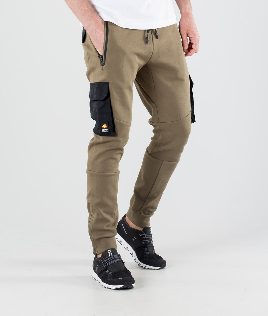ColourWear Urban Athleisure Broek Dark Khaki