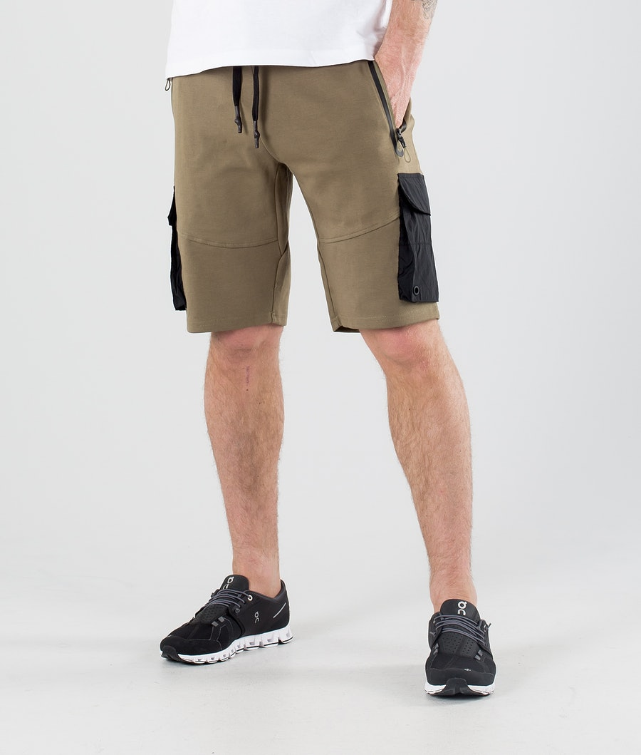 ColourWear Urban Athleisure Shorts Dark Khaki