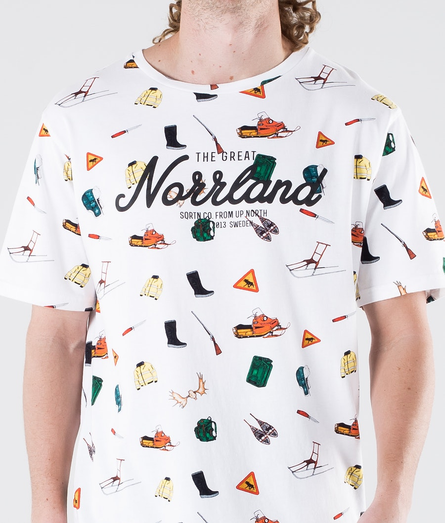 SQRTN Great Norrland T-shirt Icons White