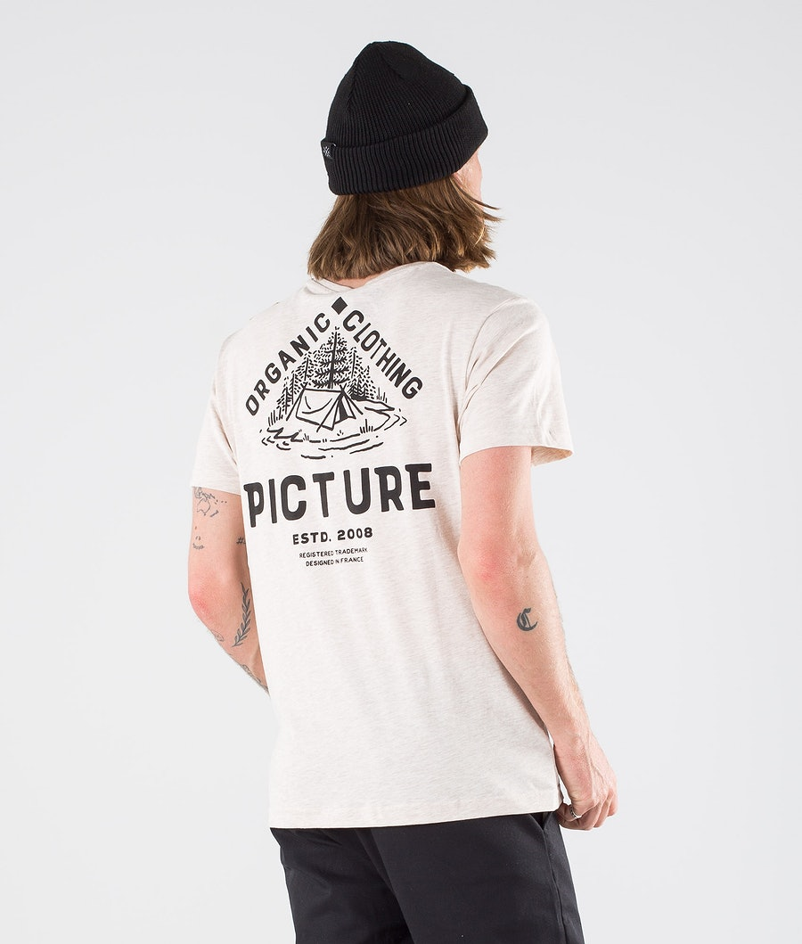 Picture Carson T-shirt Beige Melange