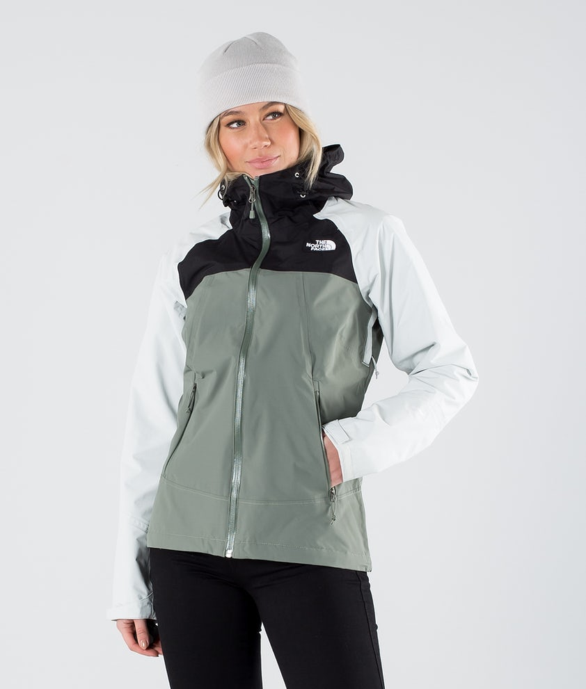 The North Face Stratos Outdoor Jas Agave Green/Tnf Black/Tin Grey