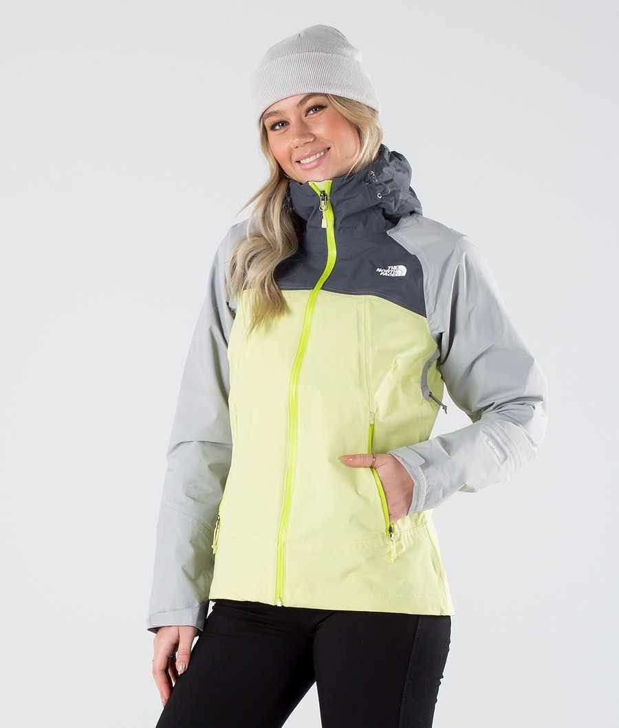 The North Face Stratos Outdoor Jacka Pale Lime Yellow/Vndsgry/Mldgry