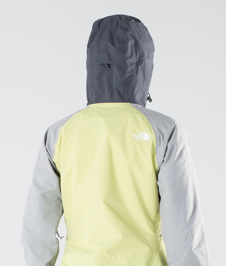 The North Face Stratos Outdoor Jas Dames Pale Lime Yellow/Vndsgry/Mldgry