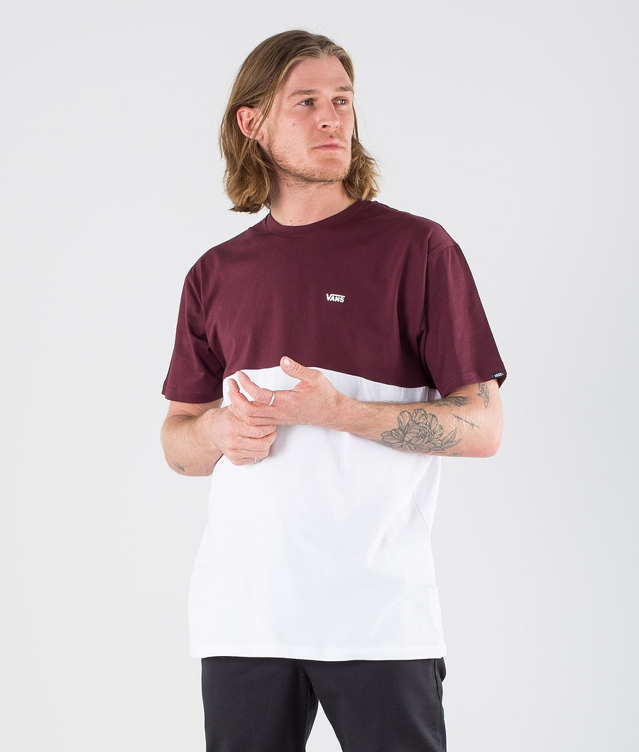 Vans Colorblock T-shirt White/Port Royale