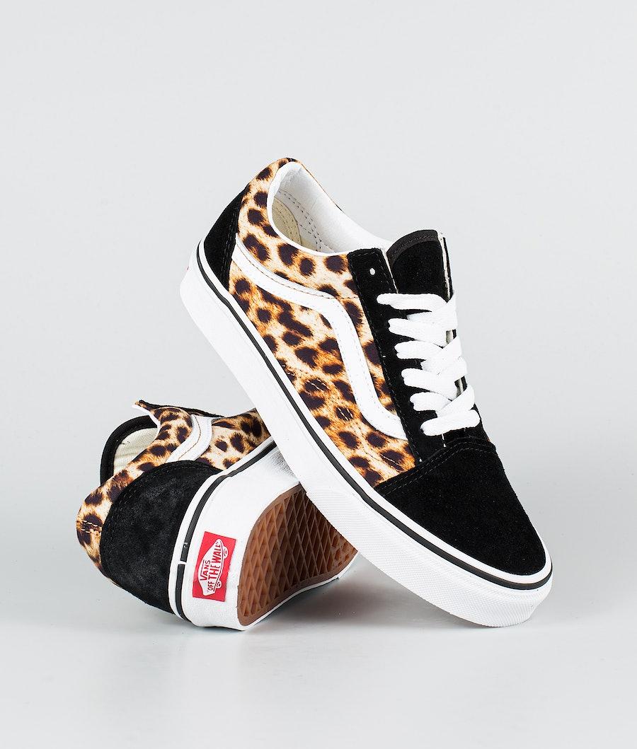 Vans Ua Old Skool Chaussures (Leopard) Black/Truewhite