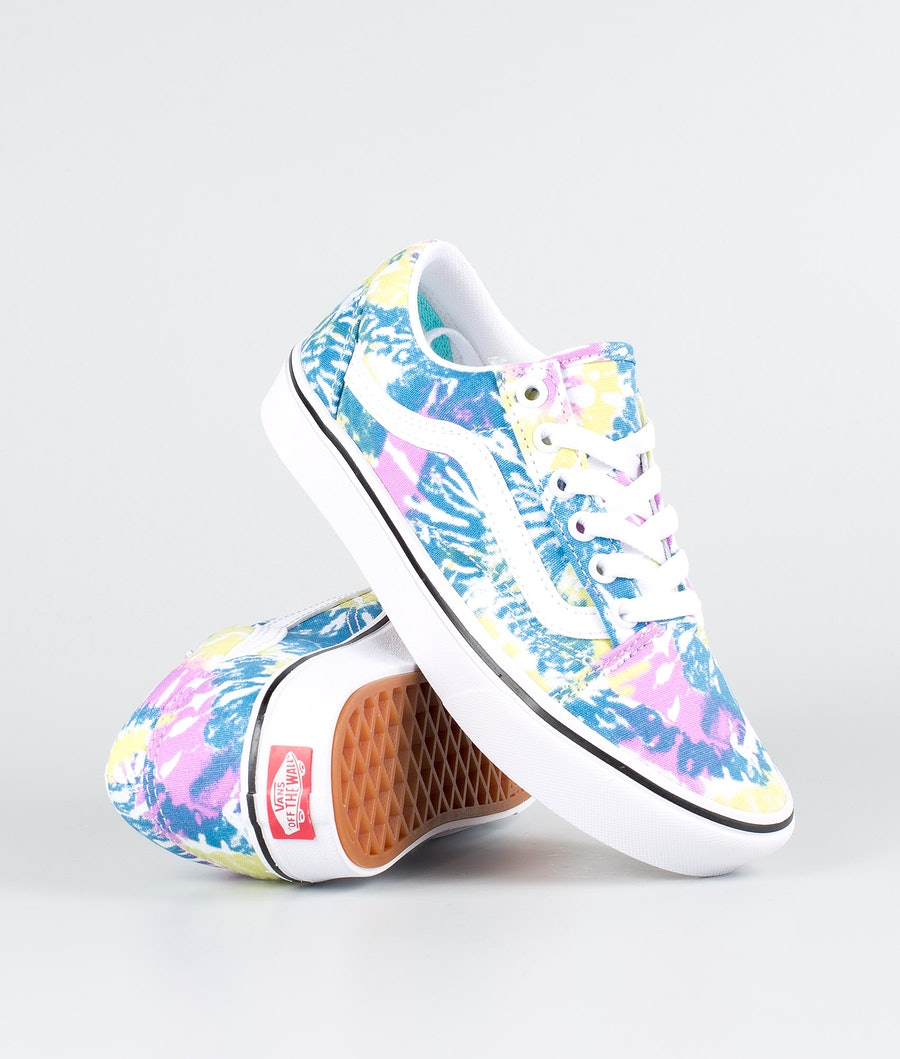 Vans Ua Comfycush Old Skool Chaussures (Tie-Dye) Orchid/True White