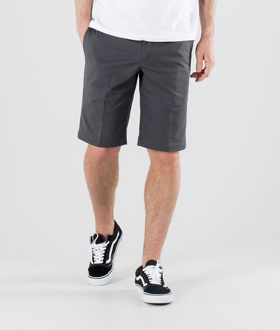 Dickies Slim Straight Flex Shorts Charcoal Grey