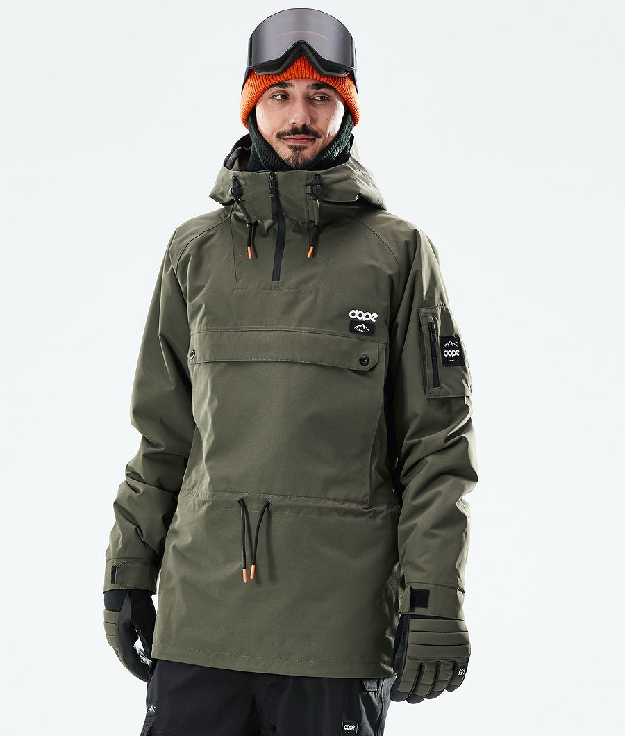 Dope Annok Veste de Ski Olive green/ Black