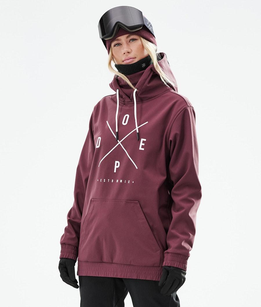 Dope Yeti W Ski Jacket Burgundy