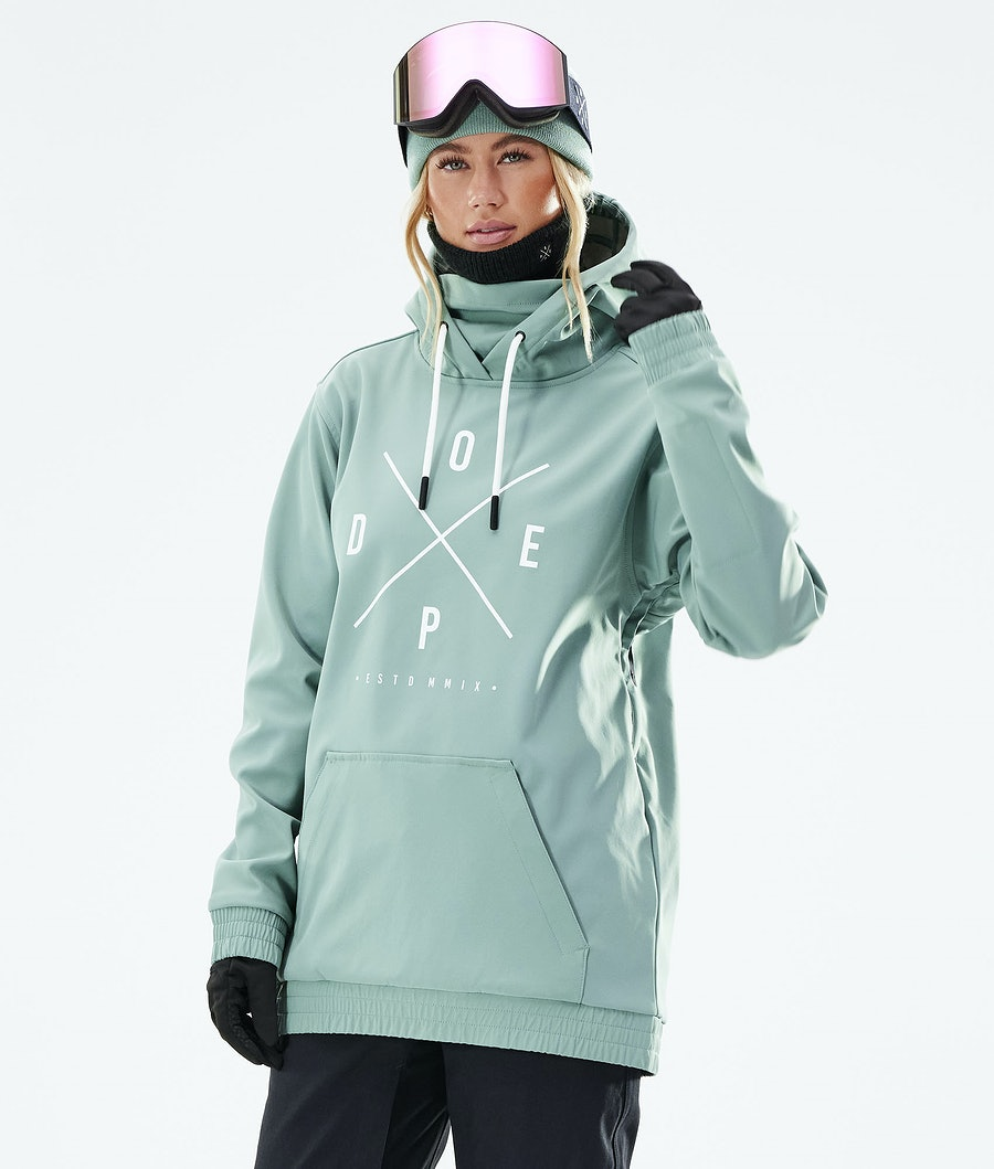 Dope Yeti W Veste Snowboard Faded Green
