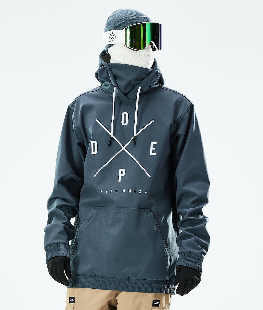 Dope Yeti Snowboard Jacket Metal Blue