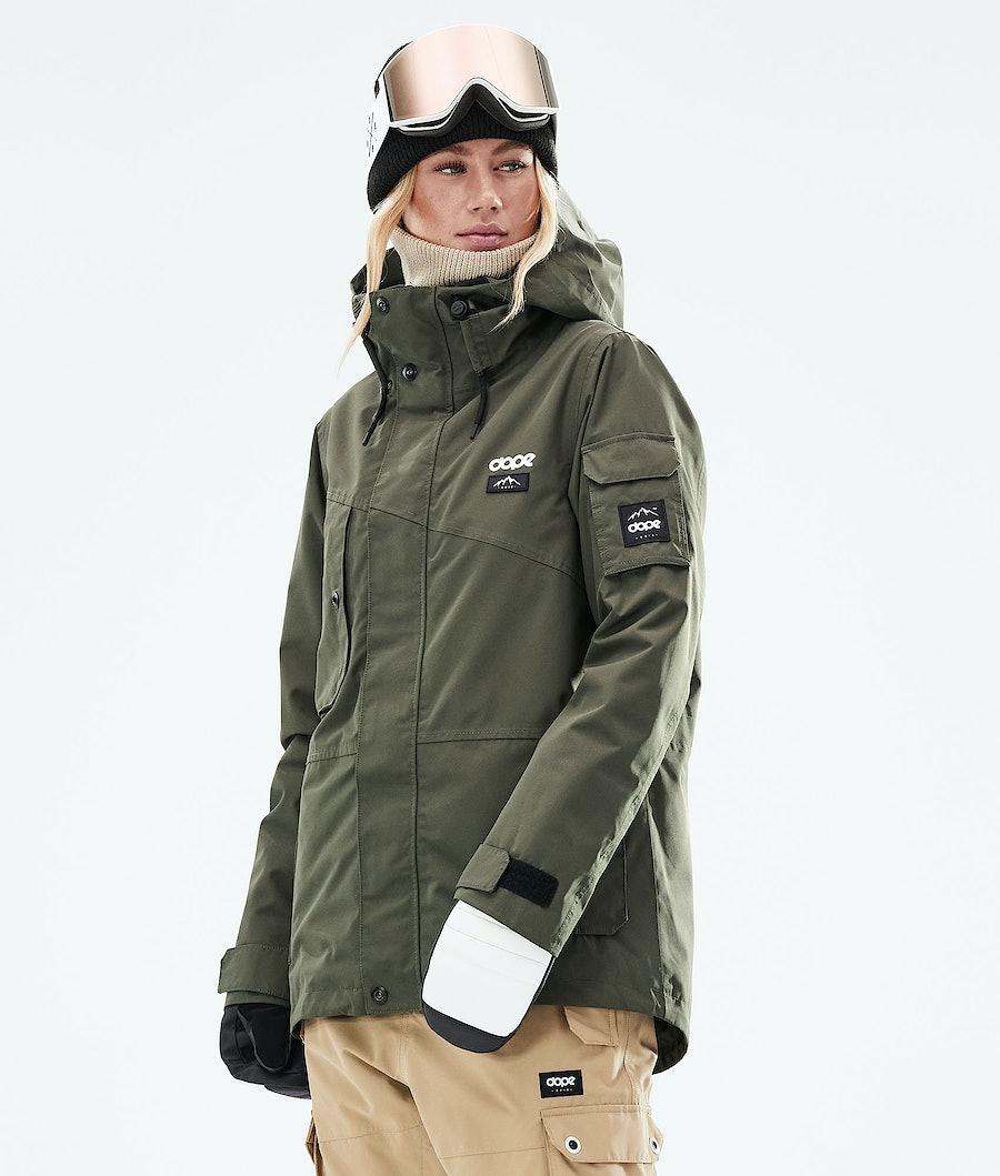 Dope Adept W Snowboard Jacket Olive Green