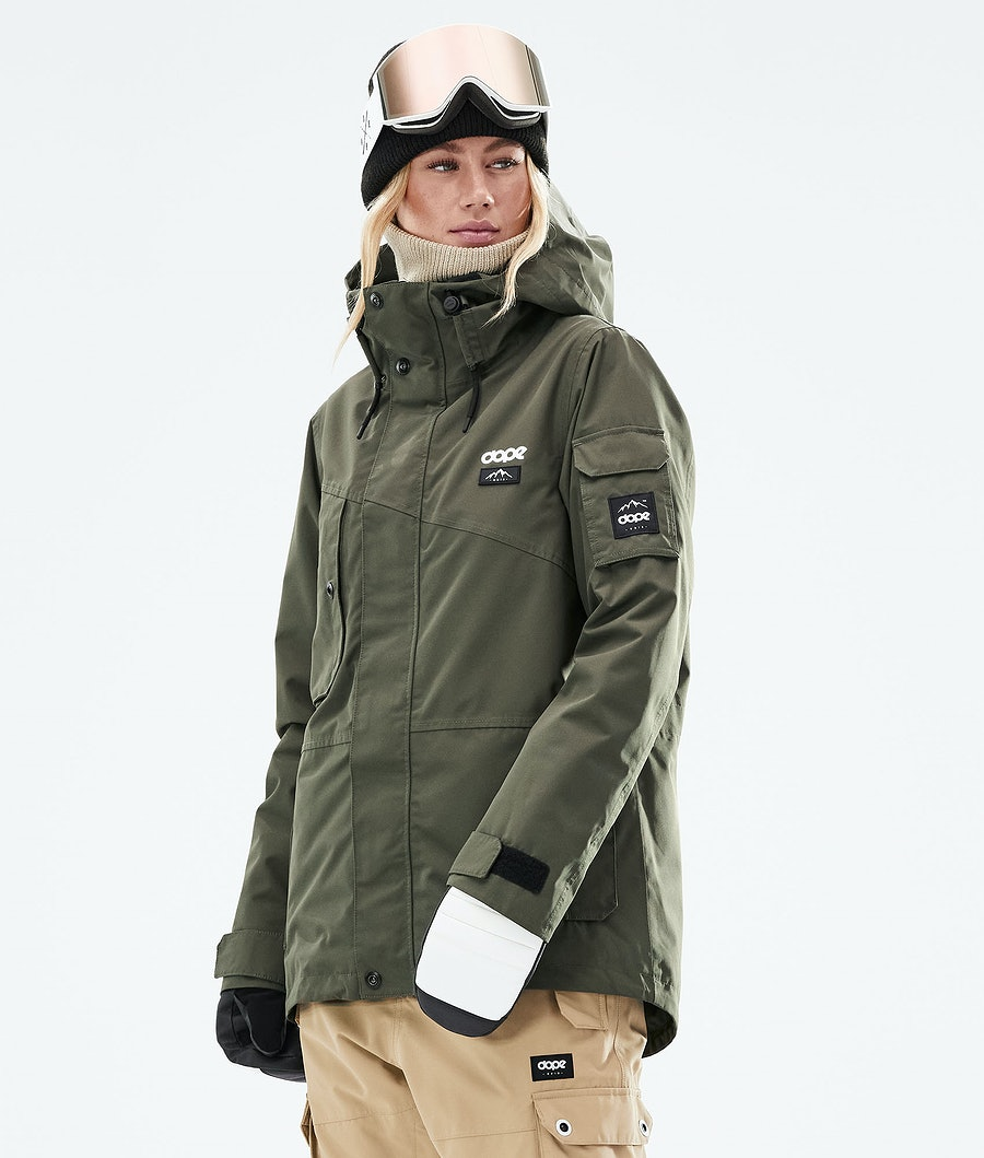 Dope Adept W Ski Jacket Olive Green
