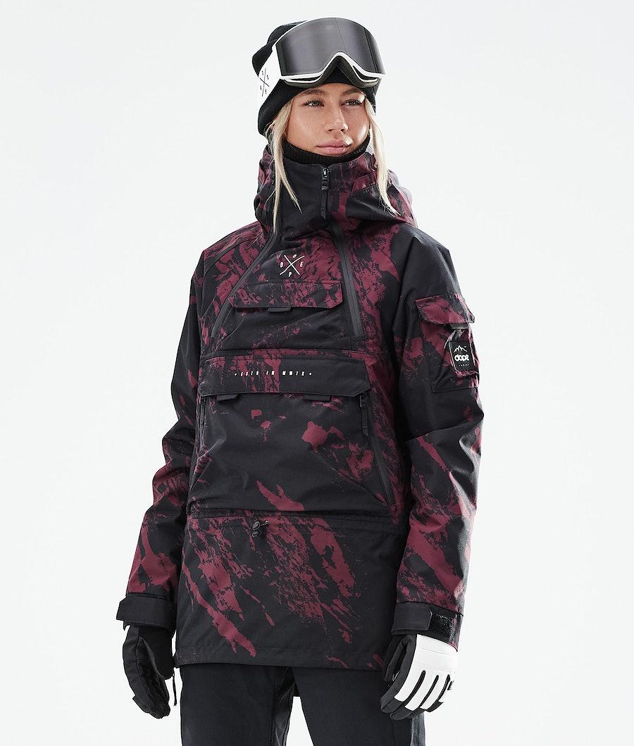 Akin W Ski Jacket Women Paint Burgundy