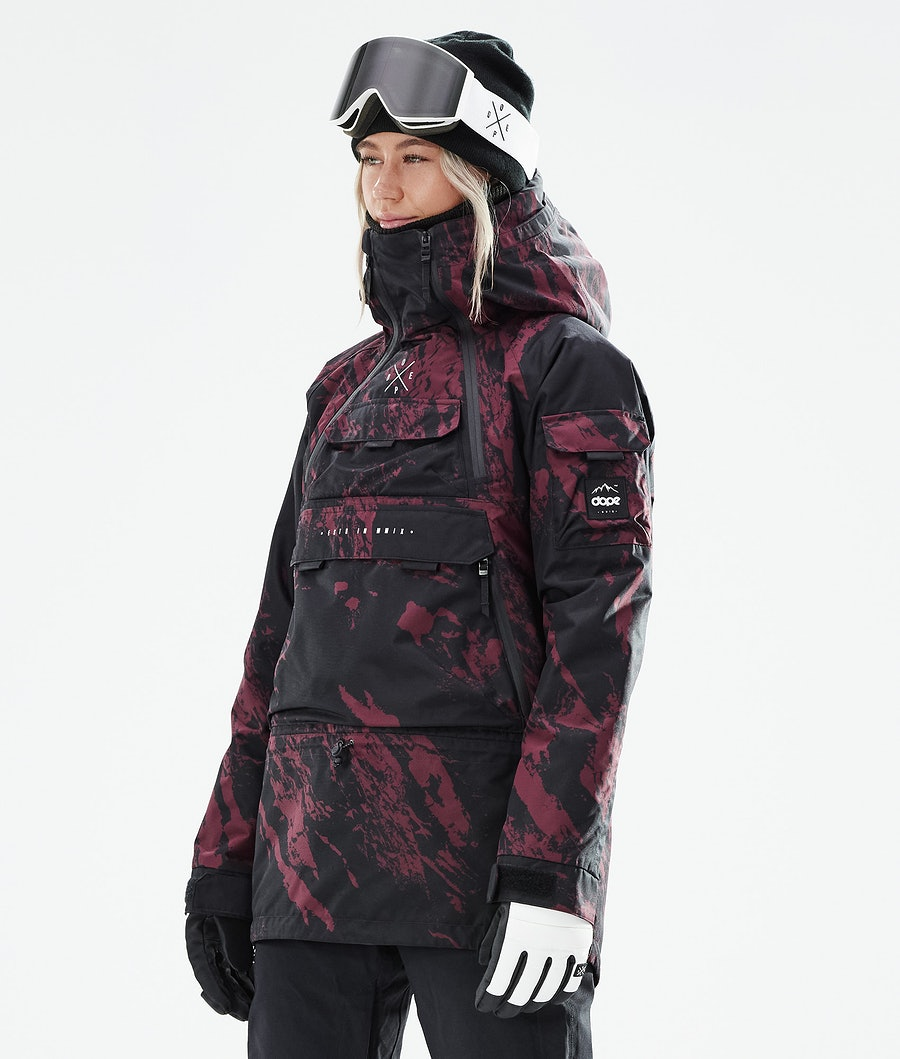 Dope Akin W Snowboardjacka Paint Burgundy