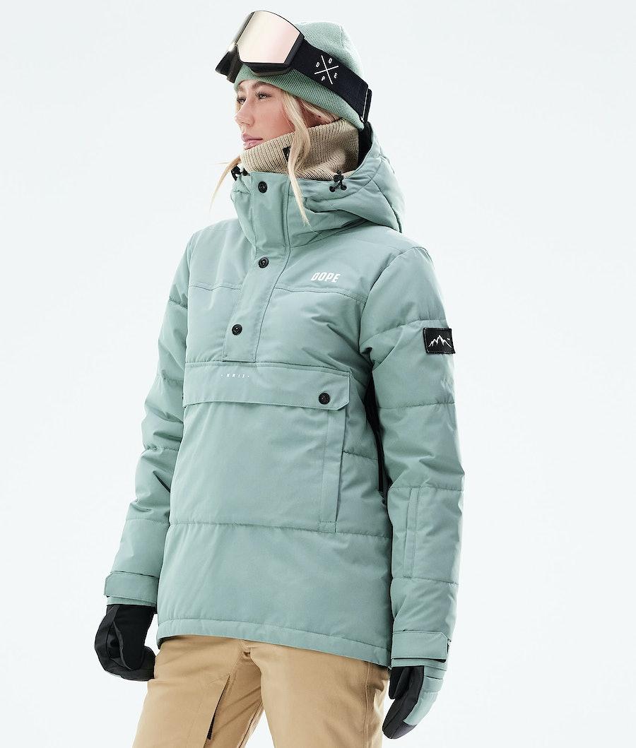 Dope Puffer W Veste Snowboard Faded Green