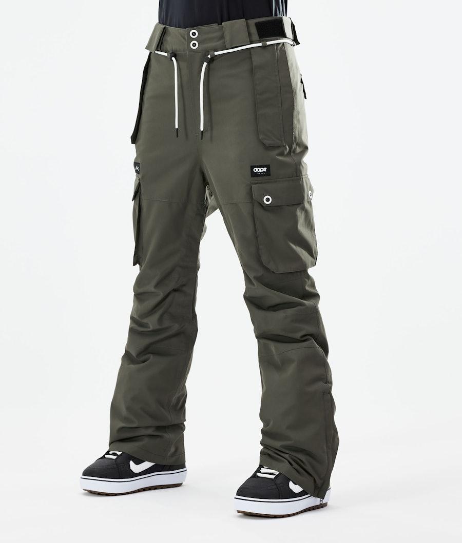 Dope Iconic W Pantalon de Snowboard Olive Green