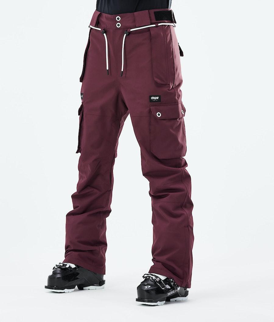 Dope Iconic W Ski Pants Burgundy