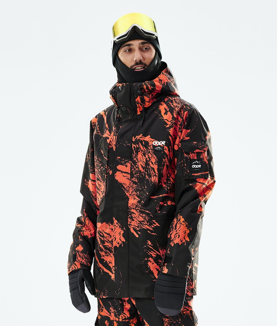 Dope Adept Veste Snowboard Paint Orange