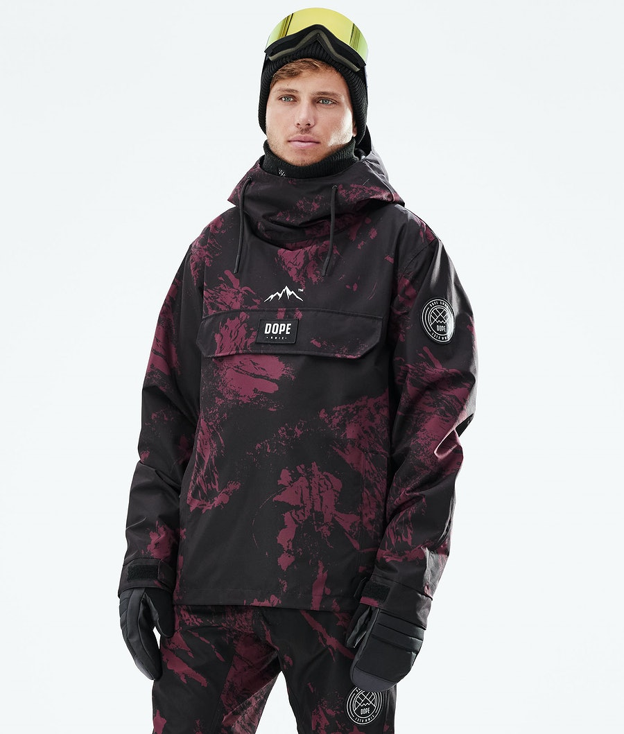 Dope Blizzard PO Snowboardjacke Paint Burgundy