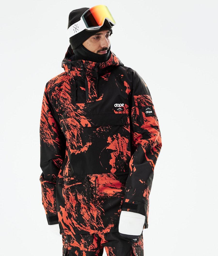Dope Annok Snowboard Jacket Paint Orange
