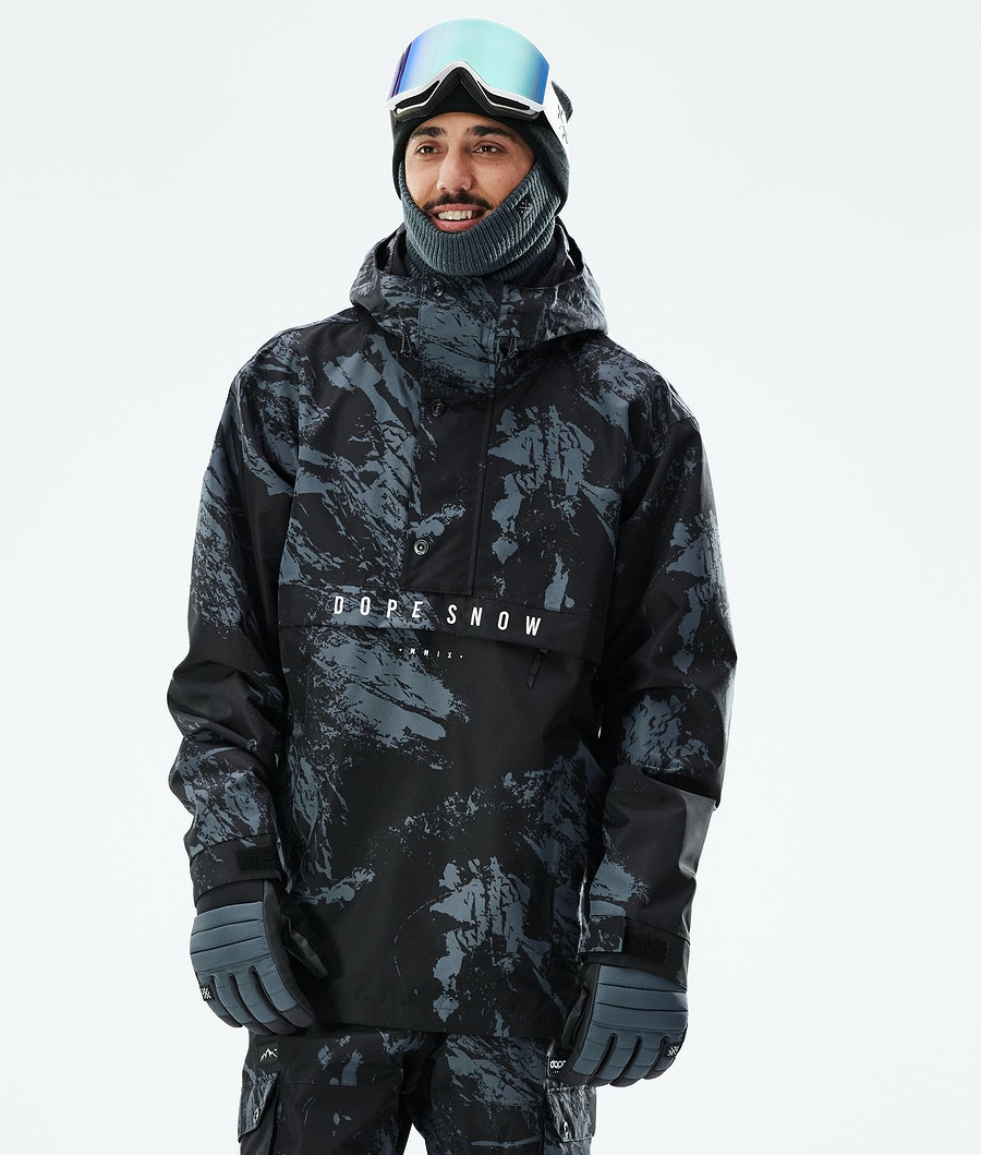 Legacy Snowboard Jacket Men Paint Metal Blue