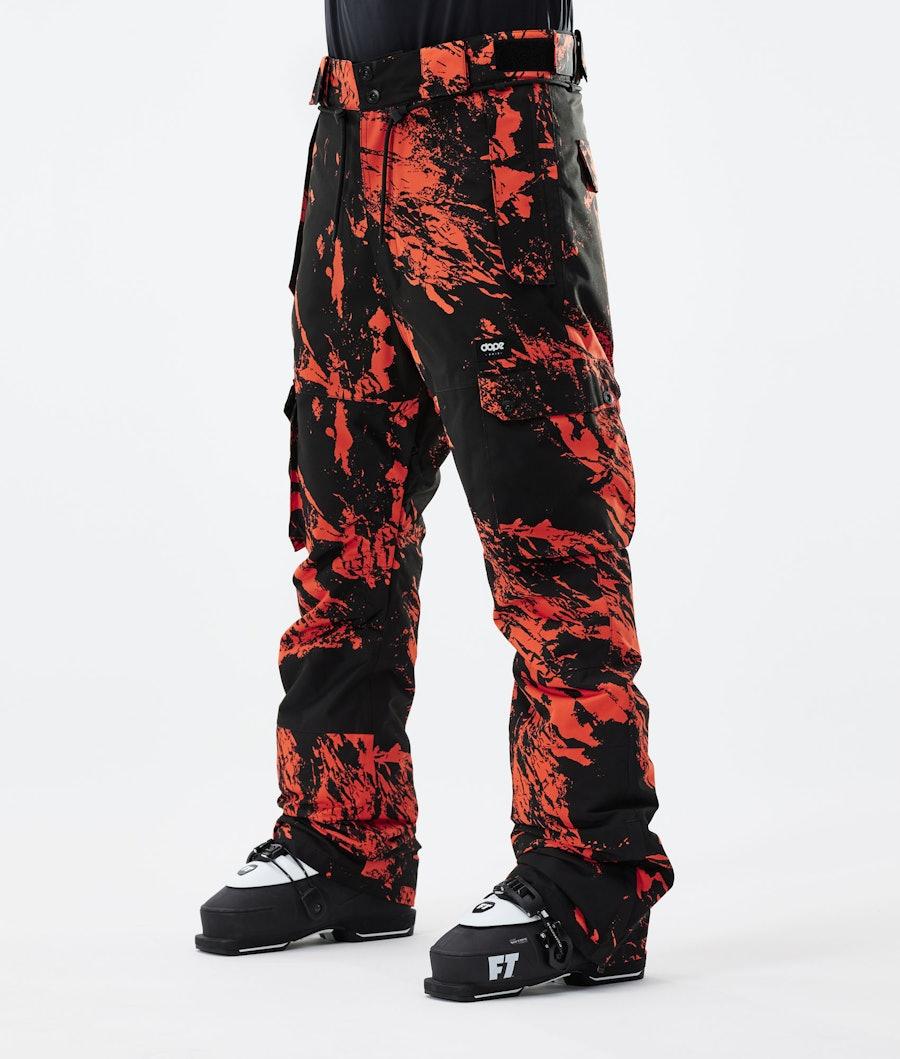 Dope Iconic Pantalon de Ski Paint Orange