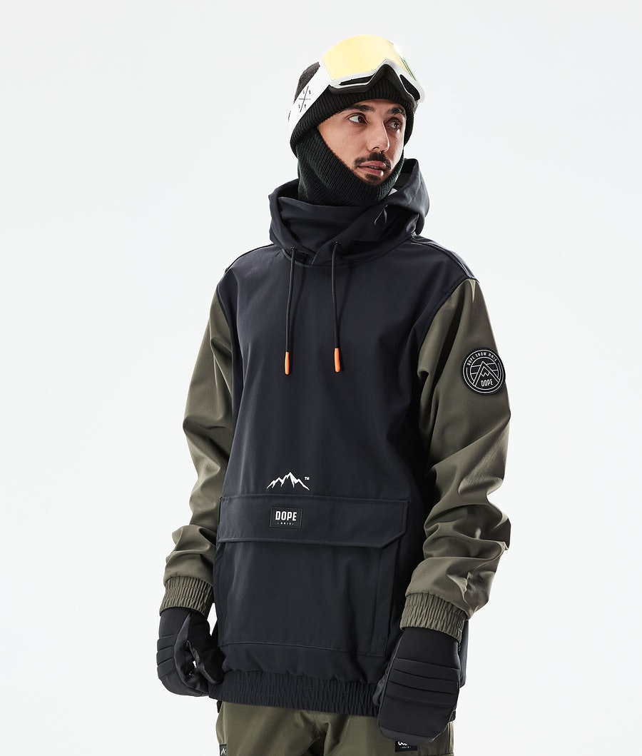 Dope Wylie Snowboard jas Black/Olive Green