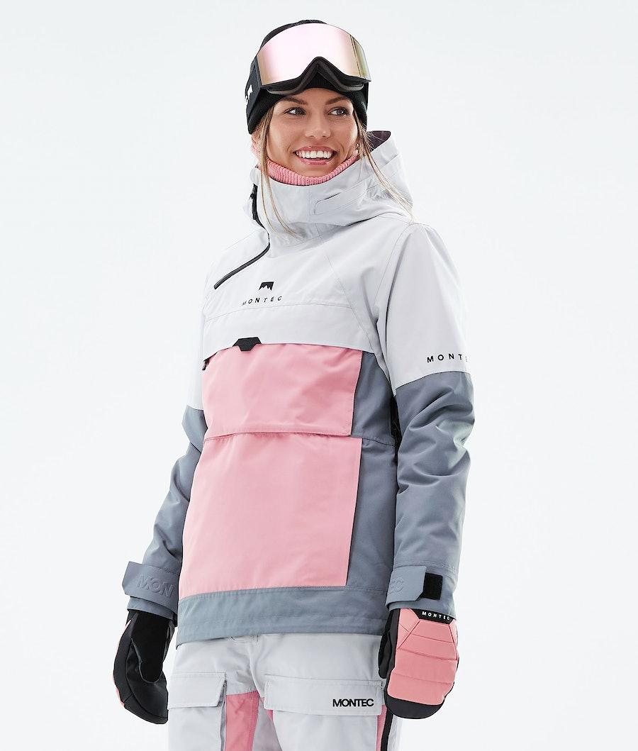 Montec Dune W Snowboard Jacket Light Grey/Pink/Light Pearl