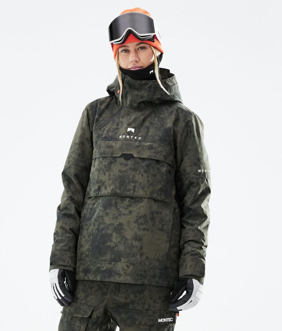 Montec Dune W Snowboard Jacket Olive Green Tiedye