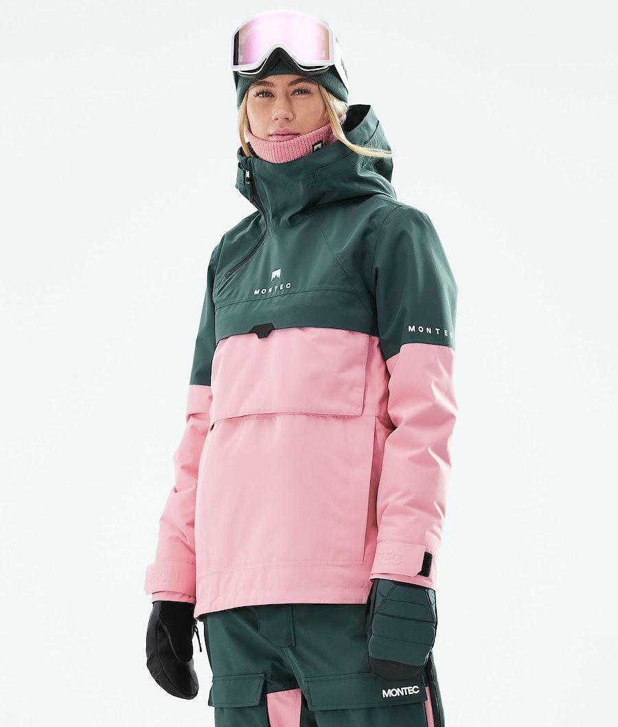Montec Dune W Snowboardjacke Dark Atlantic/Pink