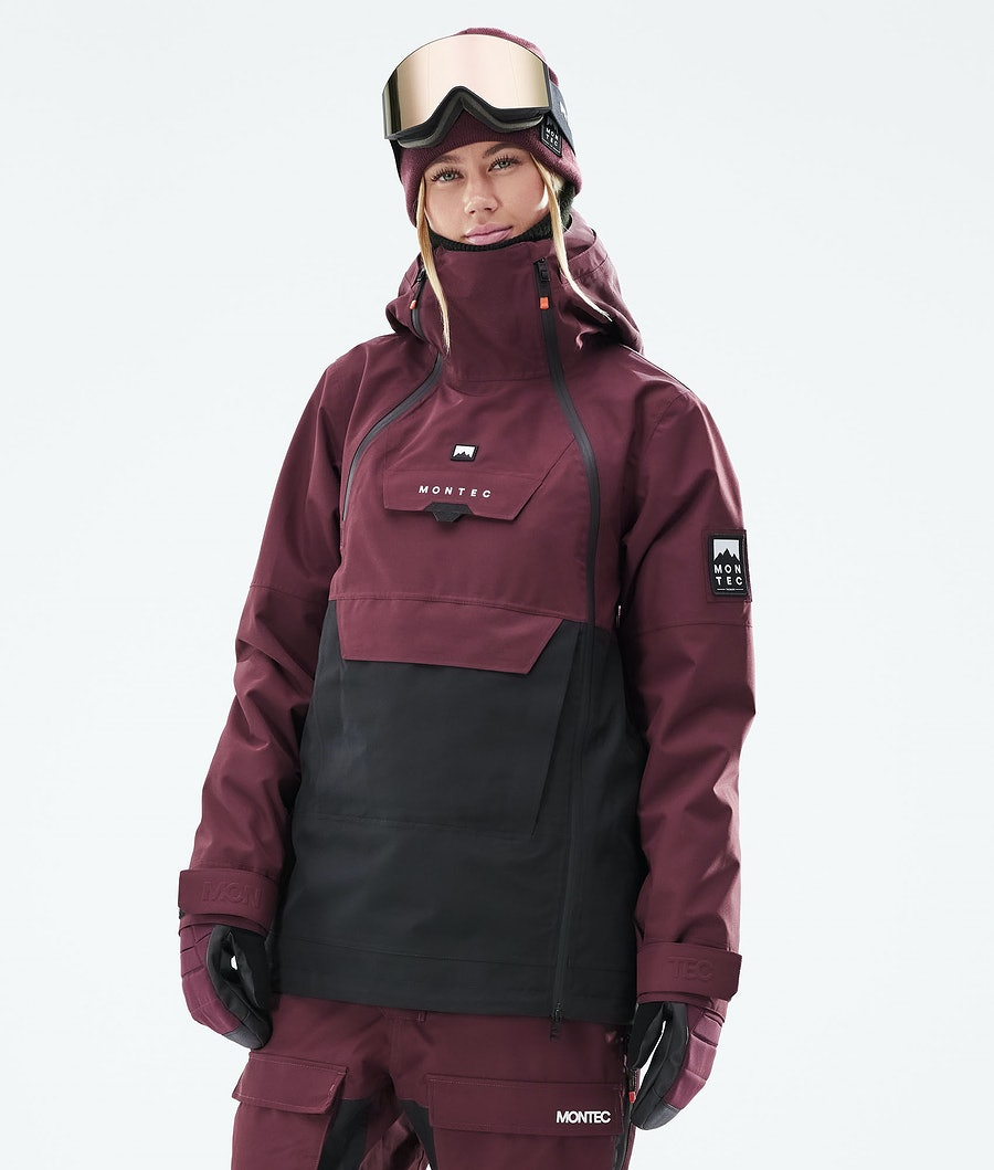 Montec Doom W Snowboardjacke Burgundy/Black