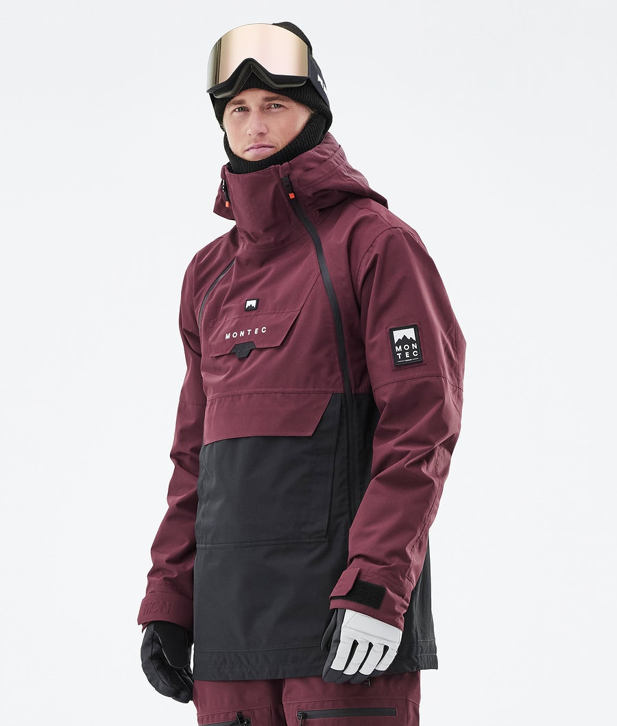 Doom Ski Jacket Men Burgundy/Black