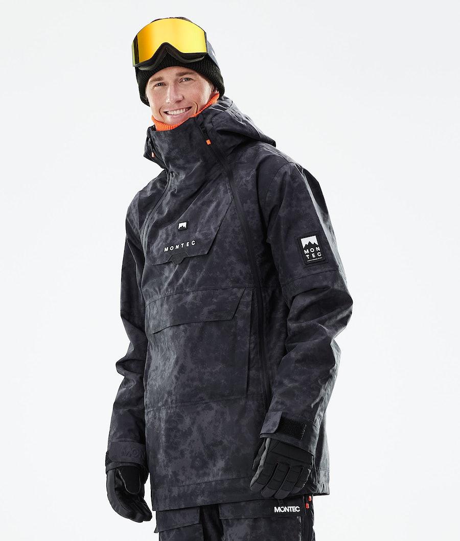 Doom Ski Jacket Men Black Tiedye