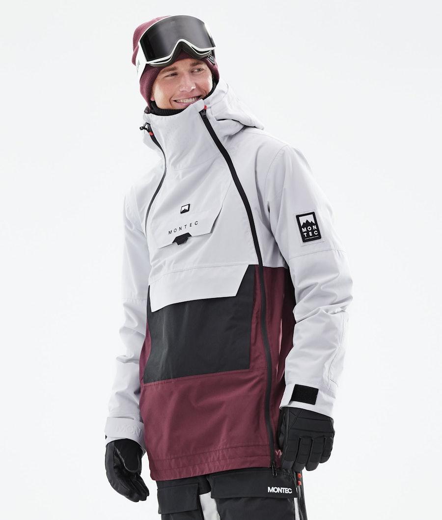 Montec Doom Snowboardjacka Light Grey/Black/Burgundy