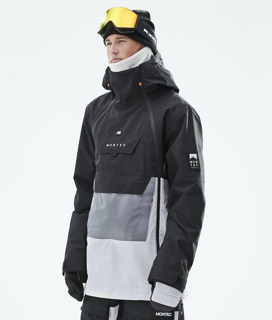 Montec Doom Snowboardjakke Black/Light Pearl/Light Grey
