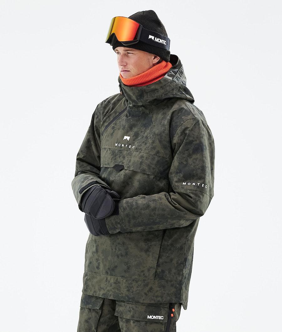 Dune Ski Jacket Men Olive Green Tiedye