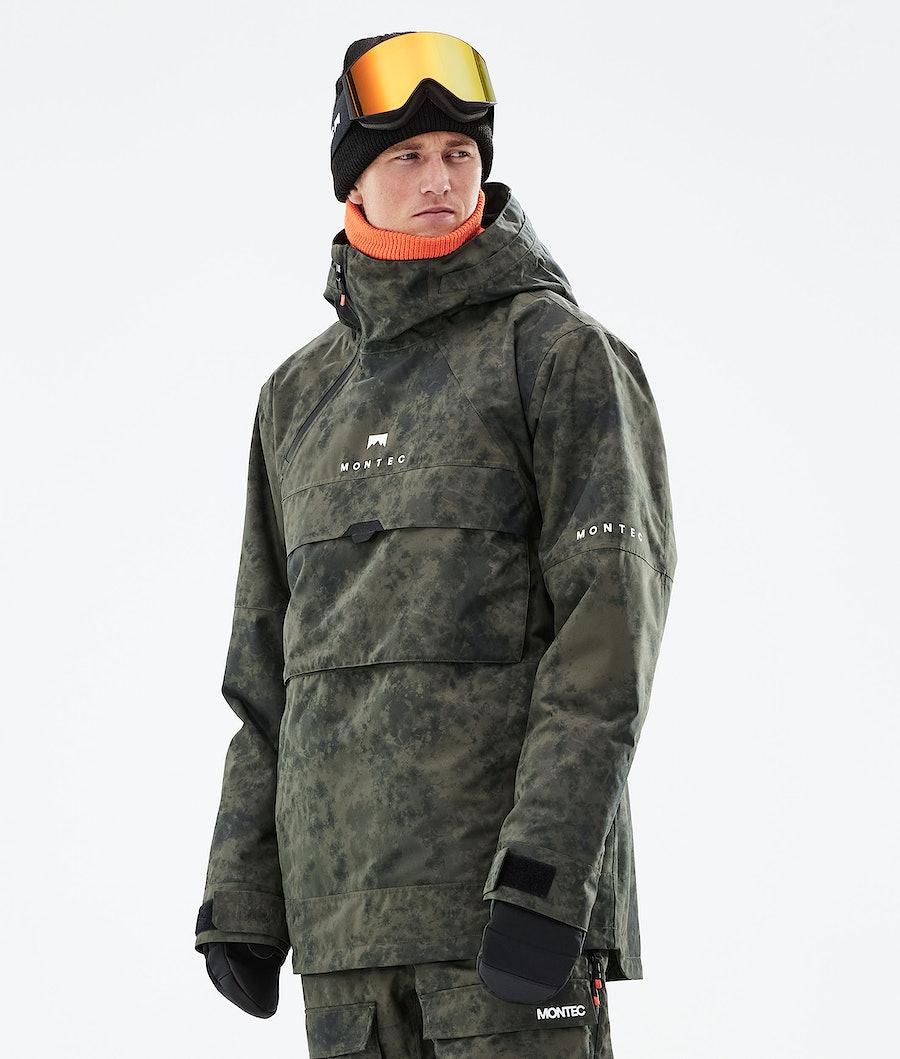 Montec Dune Snowboardjacka Olive Green Tiedye