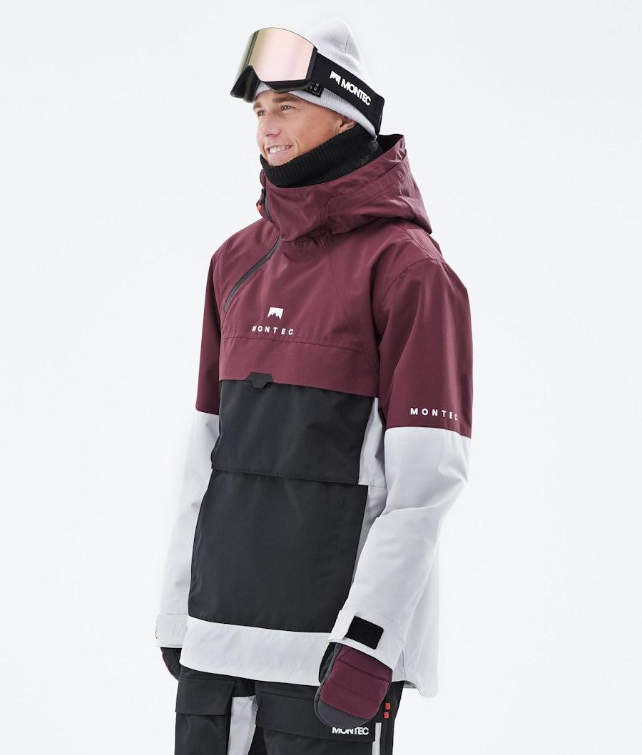 Montec Dune Snowboardjacka Burgundy/Black/Light Grey