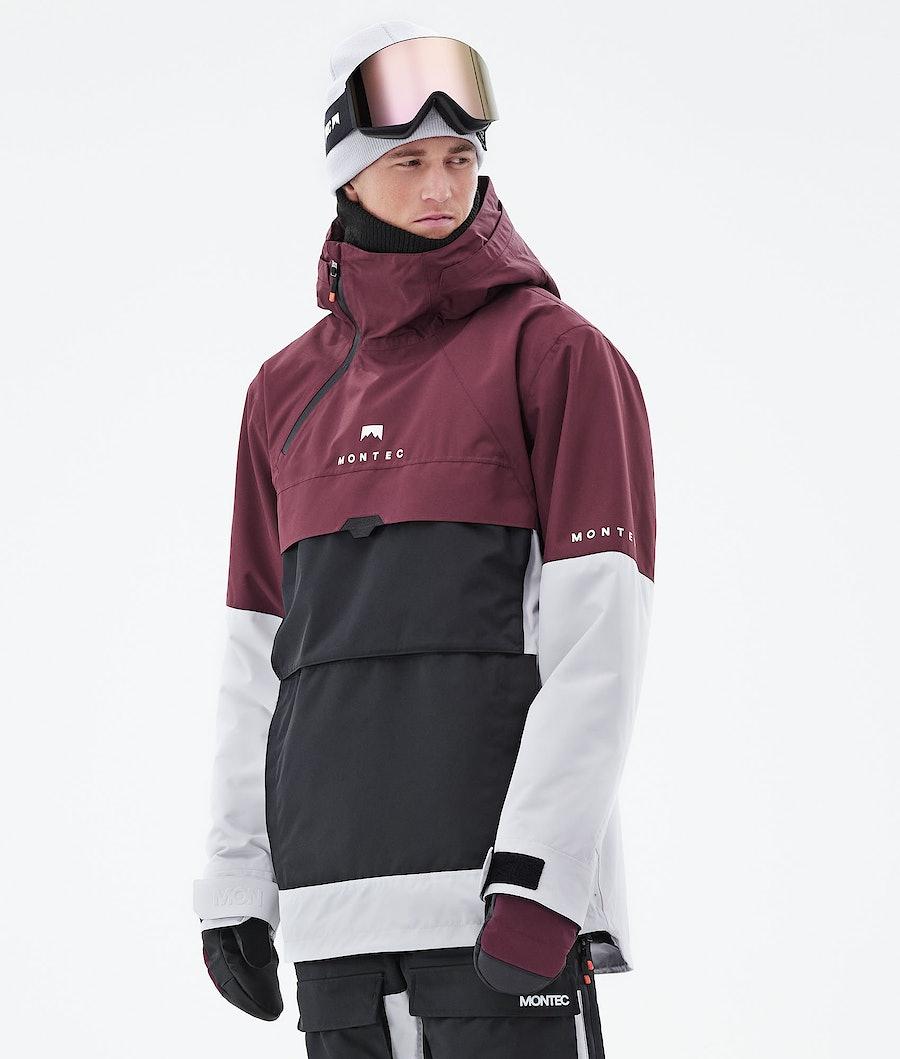 Dune Ski Jacket Men Burgundy/Black/Light Grey