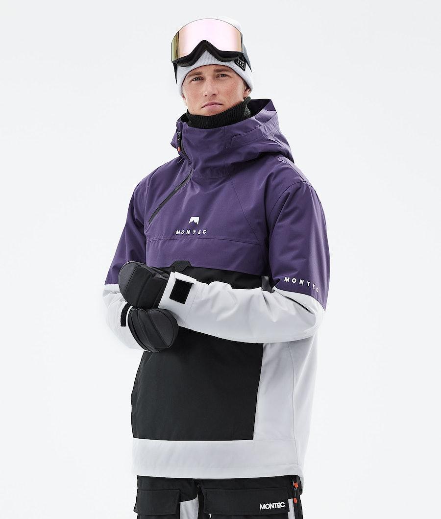 Dune Ski Jacket Men Purple/Black/Light Grey