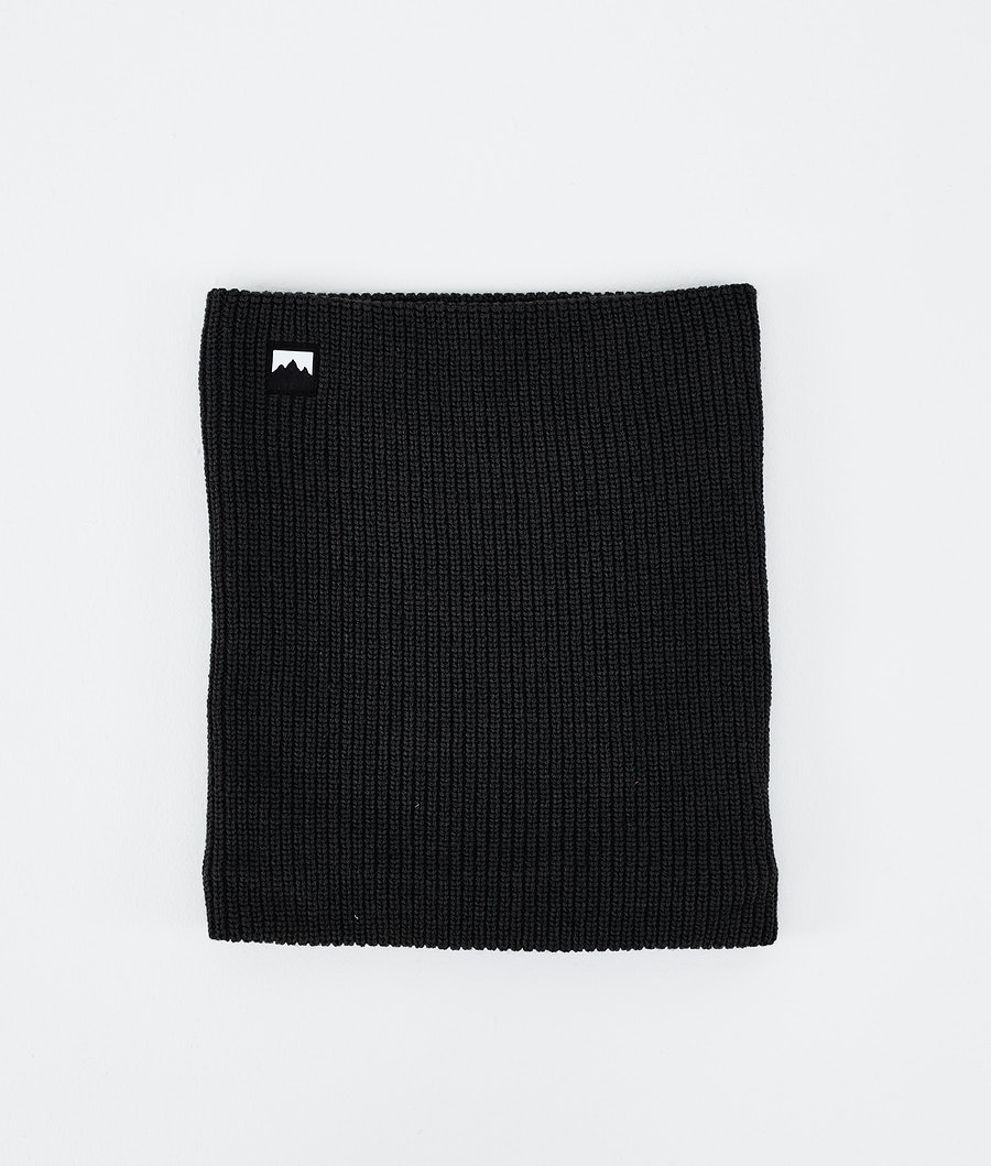 Classic Knitted Facemask Black