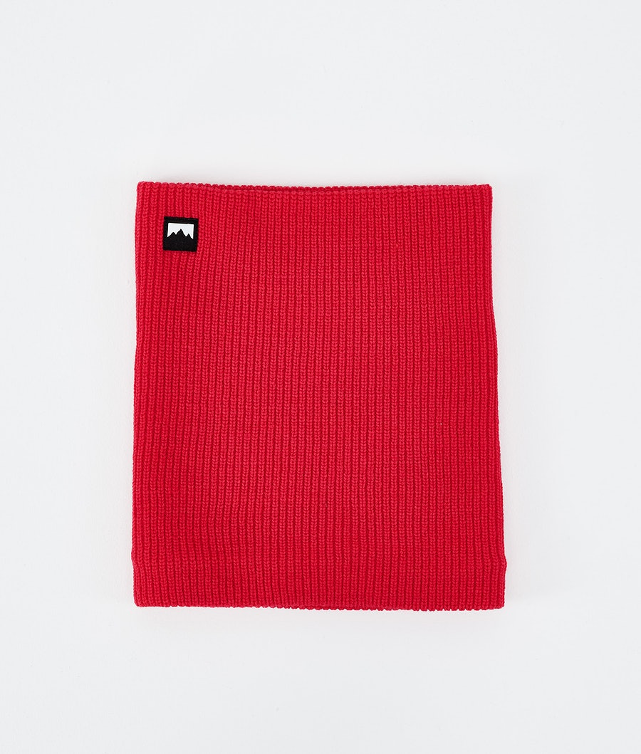 Classic Knitted Facemask Red