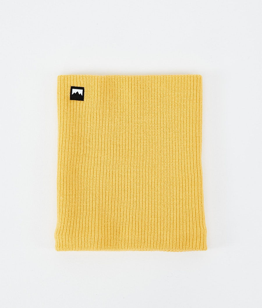 Classic Knitted Facemask Yellow