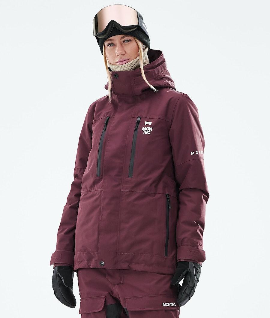 Fawk W Ski Jacket Women Burgundy