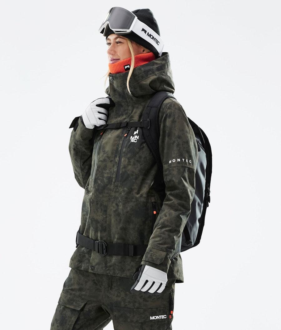 Montec Fawk W Snowboardjacke Olive Green Tiedye