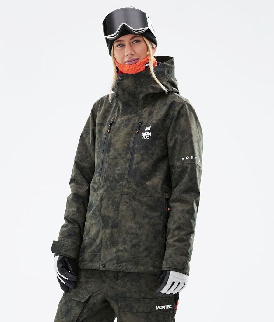 Montec Fawk W Ski Jacket Olive Green Tiedye