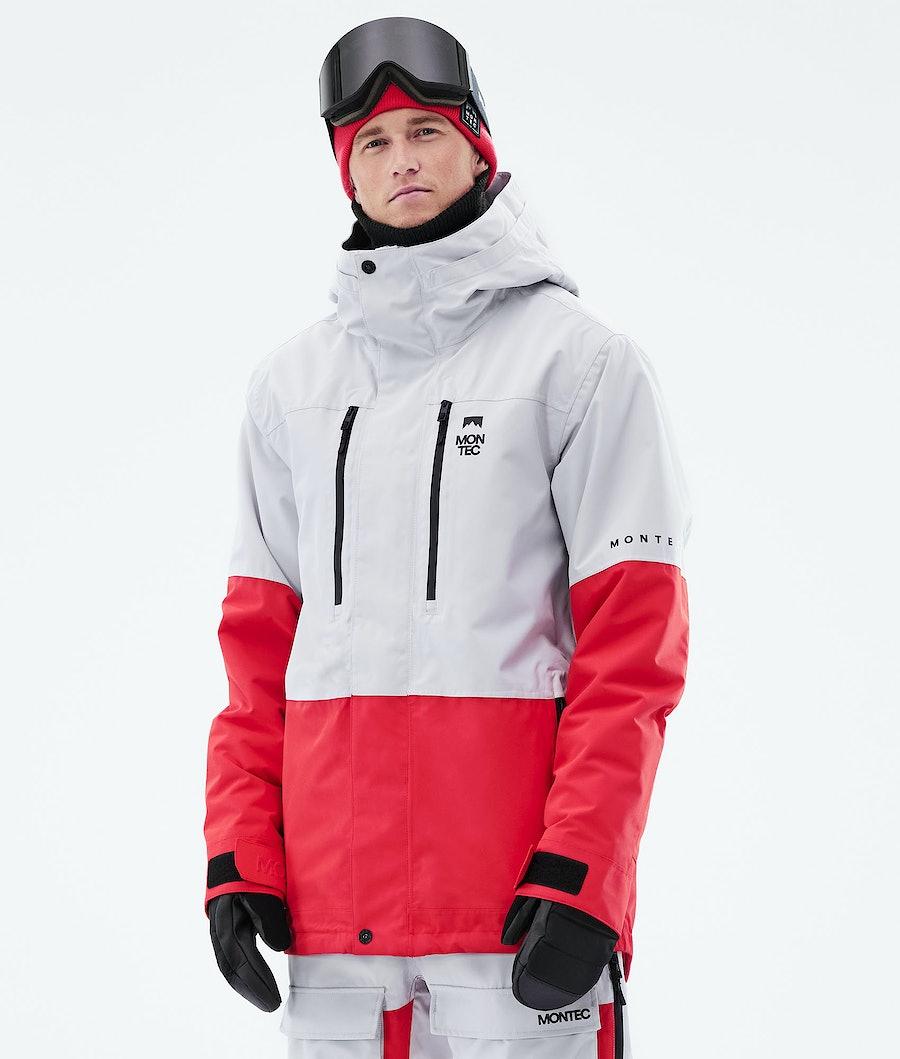 Montec Fawk Snowboardjacka Light Grey/Red