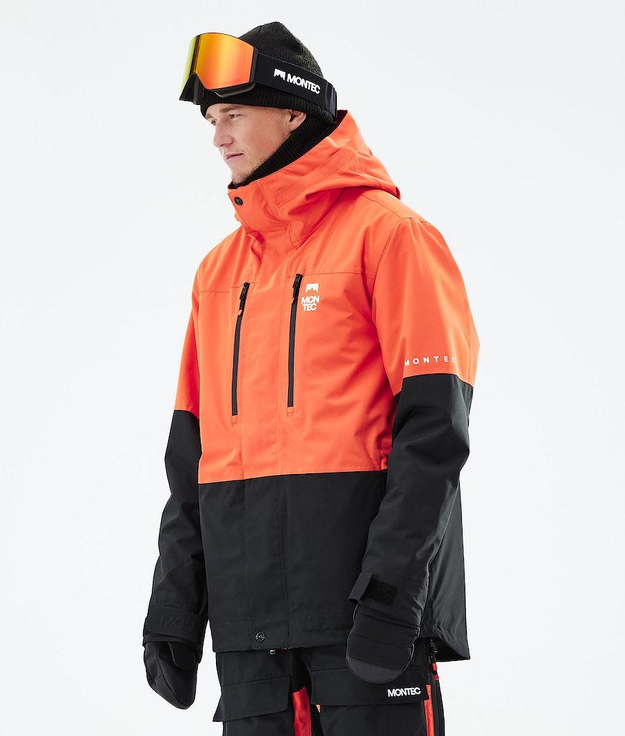 Fawk Ski Jacket Men Orange/Black