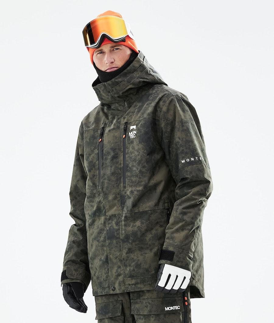 Montec Fawk Snowboard Jacket Olive Green Tiedye
